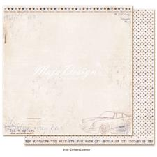 Maja Design Scrapbook Paper -Denim & Friends / Driver's License