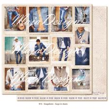 Maja Design Scrapbook Paper -Denim & Friends / Snapshots Guys in Jeans
