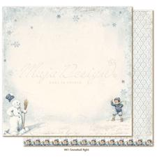 Maja Design Scrapbook Paper - Joyous Winterdays / Snowball Fight