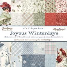 Maja Design Scrapbook Paper Stack 6x6 - Joyous Winterdays