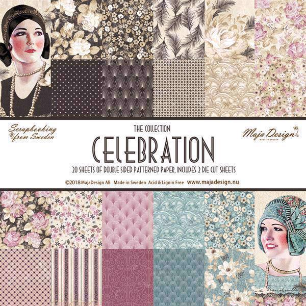 Maja Design Scrapbook Paper - Celebration - Komplet Sæt (20 ark)