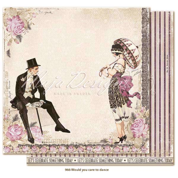 Maja Design Scrapbook Paper - Celebration / Would you care to dance?