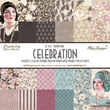 "Maja Design Scrapbook Paper Stack 6x6"" - Celebration"