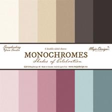 Maja Design Scrapbook Paper - Shades of Celebration - Monochromes (6 ark ensfarvet)