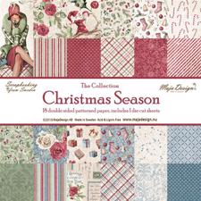 Maja Design Scrapbook Paper - Christmas Season  - Komplet sæt (18 ark)