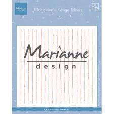 "Marianne Design Embossing Folder 6x6"" cm - Marjoleine's Stripes"