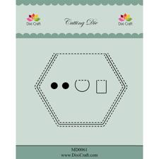 Dixi Craft Die - Peek-a-boo / hexagon