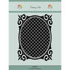 Dixi Craft Die - Oval Frame with Grid
