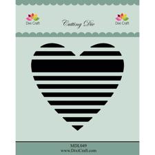 Dixi Craft Die - Heart Stripes