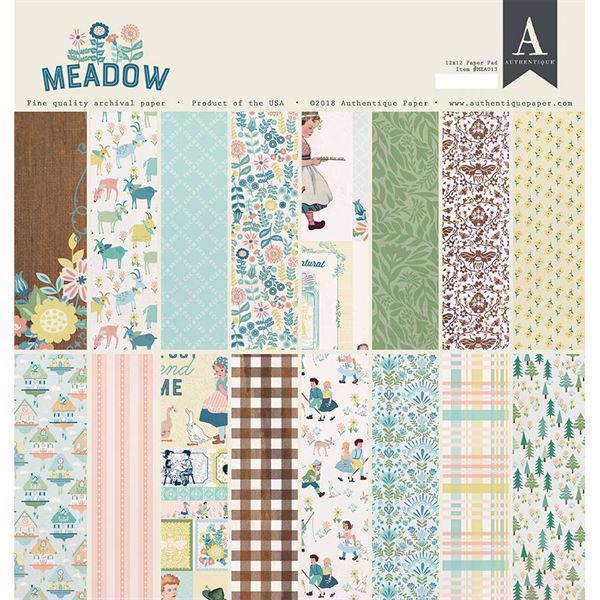 "Authentique Paper Pad 12x12"" - Meadow"