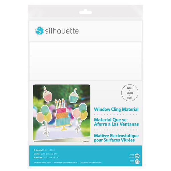 Silhouette Printable Window Cling - White (ark)