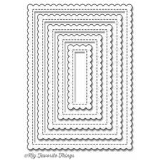 Die-namics Die - Stitched Mini Scallop Rectangle Stax