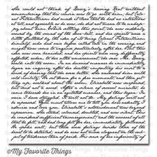 My Favorite Things Background Cling Stamp - Romantic Script