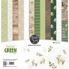 "ModaScrap Paper Pack 12x12"" - Forever Green"