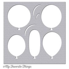 My Favourite Things Stencil (plast) - Big Balloons