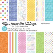 "My Favorite Things Paper Pad 6x6"" - Birthday Brights"