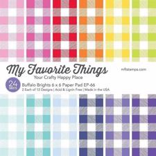 "My Favorite Things Paper Pad 6x6"" - Buffalo Brights"