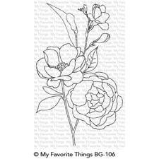 My Favorite Things Background Cling Stamp - Fresh-Cut Flowers