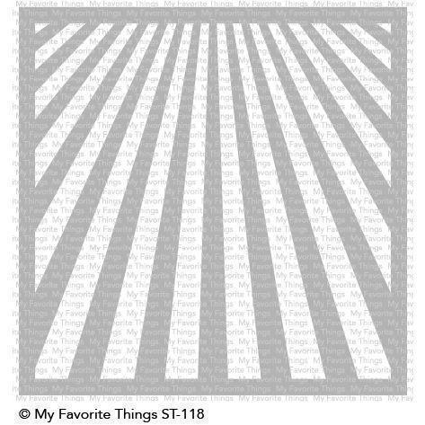 My Favourite Things Stencil (plast) - Ray of Light