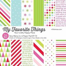 "My Favorite Things Paper Pad 6x6"" - Very Merry"