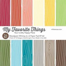 "My Favorite Things Paper Pad 6x6"" - Woodgrain Whimsy"