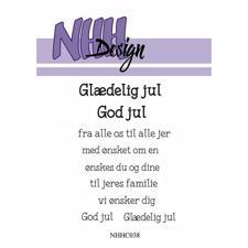 NHH Design Clearstamp - Glædelig Jul / God Jul