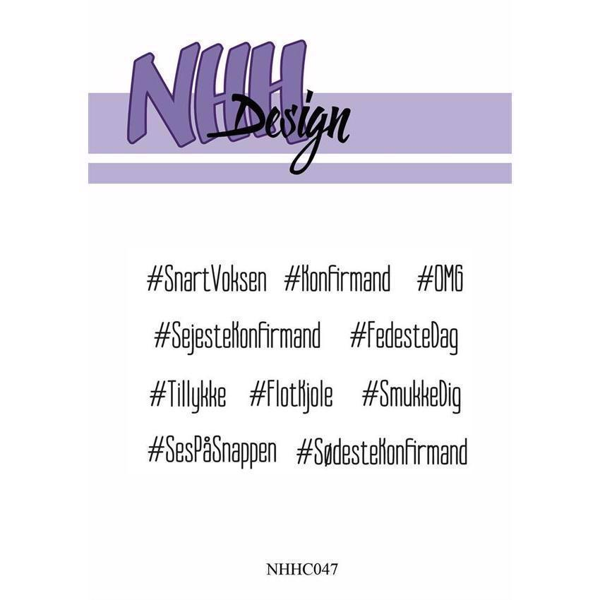 NHH Design Clearstamp - Hashtag Tekster