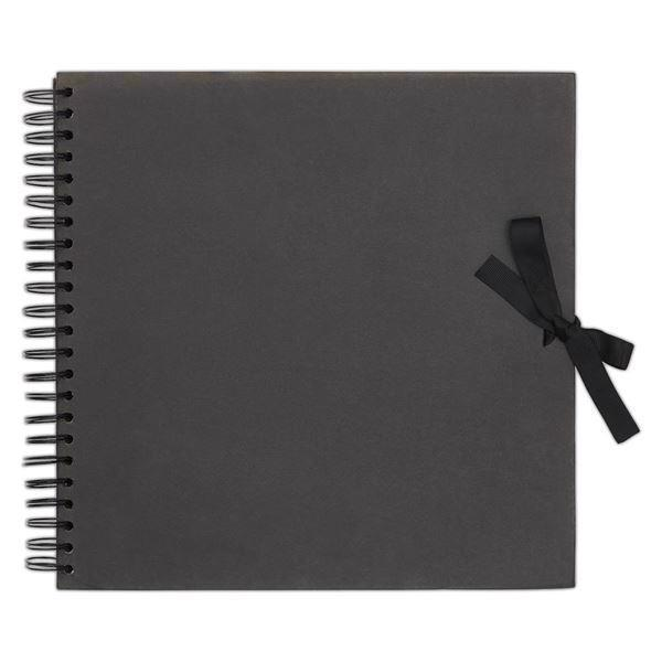 Papermania Scrapbooking Album Black - 30x30 cm