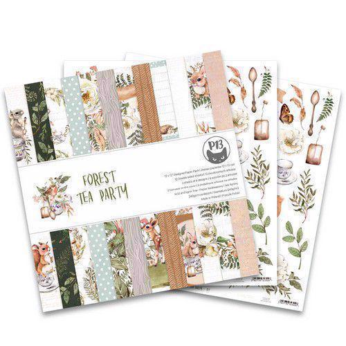 "P13 (Piatek) Scrapbooking Paper Pack 12x12"" - Forest Tea Party"