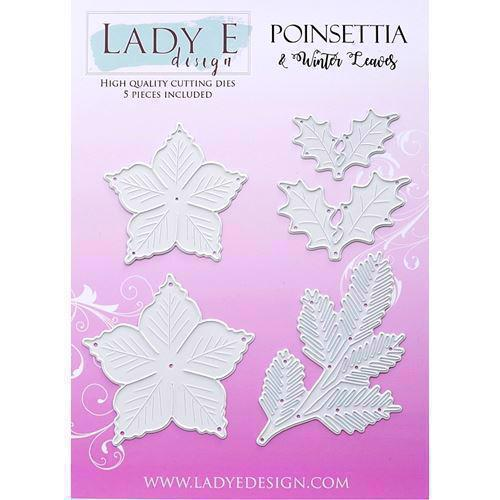 Lady E Design Dies - Poinsettia & Winter Leaves