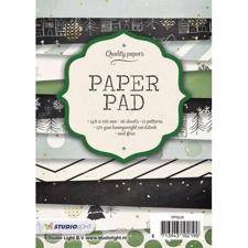 Studio Light Paper Pad A6 (10x15 cm) - Green & Black Christmas
