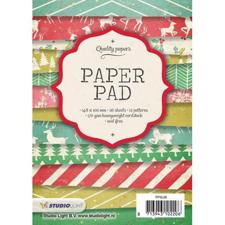 Studio Light Paper Pad A6 (10x15 cm) - Retro Colors Christmas