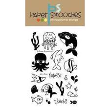 Paper Smooches Clear Stamp Set - Briny Blue