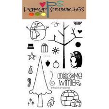 Paper Smooches Clear Stamp Set - Winter Groves