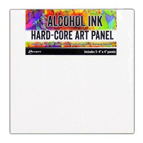 "Ranger Alcohol Ink Hard Core Art Panels - Square 3-pack (4x4"")"