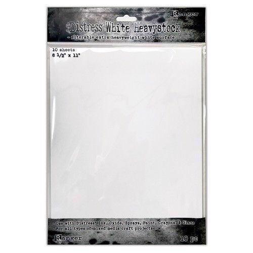 Tim Holtz Distress Heavystock - White (letter size)