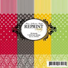 "RePrint Scrapbooking Paper pack 6x6"" - Basic Collection Bright"