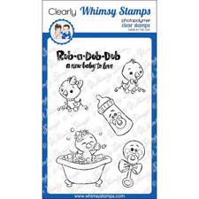 Whimsy Stamps Clear Stamp - Rub a Dub Dub
