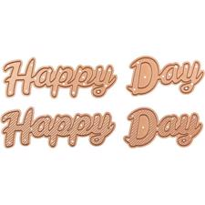 Spellbinders Die -  D-Lites / Bold Type Happy Day