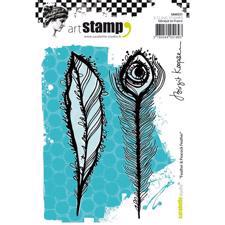 Carabelle Studio Cling Stamp Large - Feather & Peacock Feather
