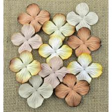 Wild Orchid Crafts - Paper Hydrangea Blooms 25 mm / Earth Tones (100 stk.)