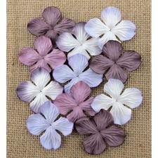 Wild Orchid Crafts - Paper Hydrangea Blooms 25 mm / Purple & Lilac (100 stk.)