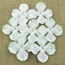 Wild Orchid Crafts - Paper Hydrangea Blooms 35 mm / White (100 stk.)