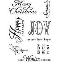 Clear Stamp Set - Christmas Words