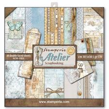 "Stamperia Paper Pack 12x12"" - Atelier"