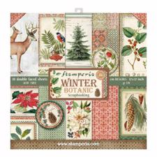 "Stamperia Paper Pack 12x12"" - Winter Botanic"