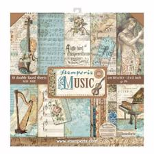 "Stamperia Paper Pack 12x12"" - Music"