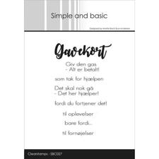 Simple and Basic Clear Stamp - Gavekort