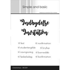 Simple and Basic Clear Stamp - Indbydelse / Invitation