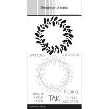 Simple and Basic Clear Stamp - Kranse med tekster